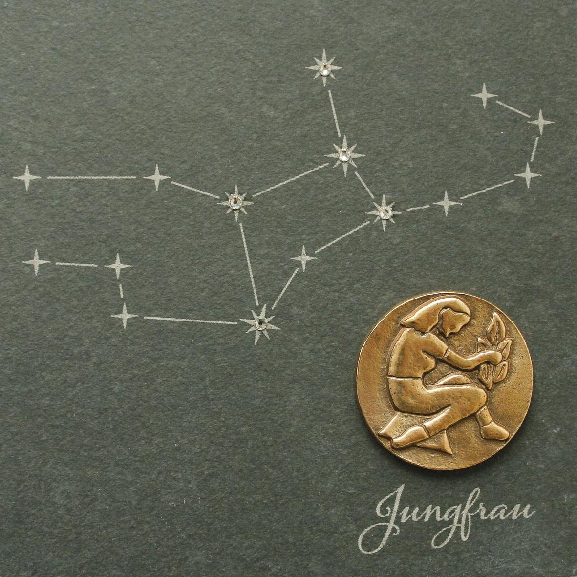 Jungfrau, 14,5 x 14,5cm