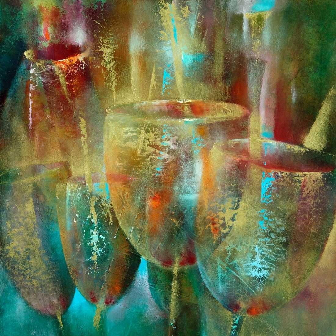 Konfiguration benutzen (Gläser, Weingläser, Feier, Party, transparent, rau, leuchtend, Wunschgröße, Malerei, Partykeller, Bar, Treppenhaus, Wohnzimmer, Küche, bunt)
