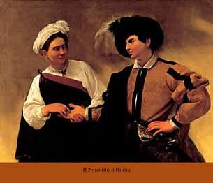 Michelangelo Caravaggio, La buona ventura (Offset) (Adliger, Weissagerin, Handlinien lesen, Zukunft vorhersagen, Prophezeiung, Klassiker, Barock,Schlafzimmer, Wohnzimmer, Malerei,  bunt)
