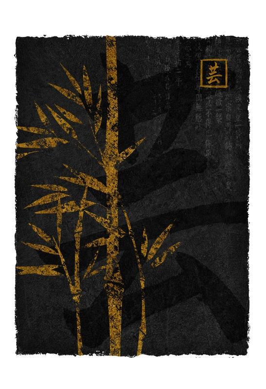 Kristin Emery, BAMBOO III (Bambus, Blätter, Grafik, Modern, Wohnzimmer,