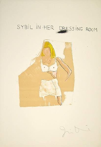 Dine Jim Dorian Gray, Sybil (30) (Lithographie, handsigniert)