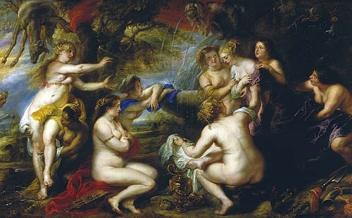 Peter Paul Rubens, Diana und Kallisto. 1638/40. (Rubens,Peter Paul,Madrid,Museo del Prado,1577-1640,Mythologie,Diana,Weibliche Akte,Kallisto,Rubens, Peter Paul 1577-1640)