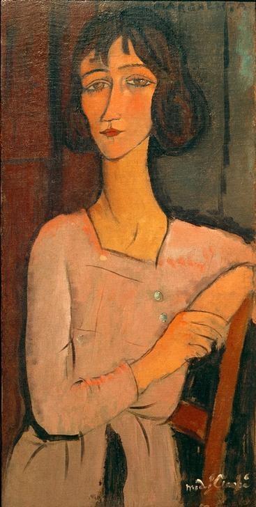 Wandbild Amedeo Modigliani, Marguerite, sitzend