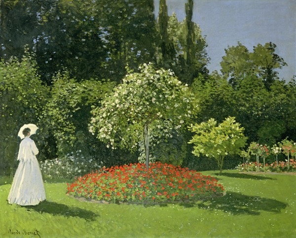Claude Monet, Jeanne Marie Lecadre in the Garden, 1866 (oil on canvas)
