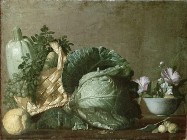 Michelangelo Merisi da Caravaggio, Still Life (Stillleben, Gemüse, Kohl, Kürbis, Klassiker, Barock, Esszimmer, Wohnzimmer, Malerei, Wunschgröße, bunt)