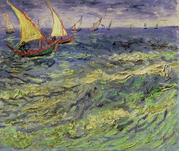 Vincent van Gogh, Seascape at Saintes-Maries (View of Mediterranean) 1888 (oil on canvas)