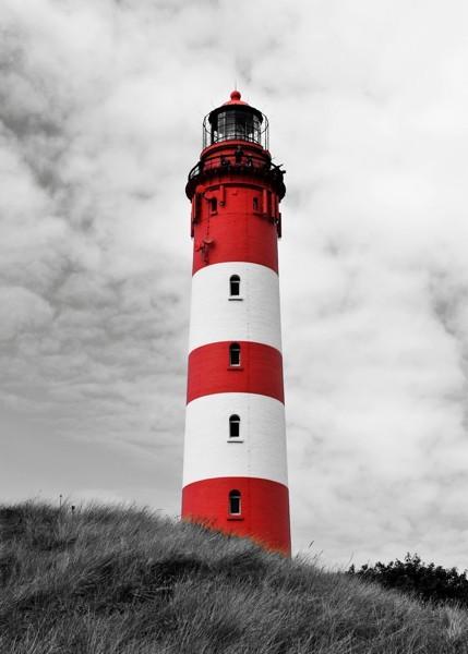 Leinwandbild Hady Khandani - Amrum Lighthouse