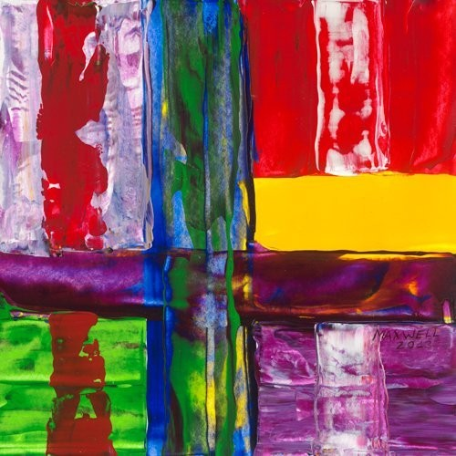 Leinwandbild Maxwell - Fenetre jaune (Abstrakte Malerei, geometrische Muster, Linien, Rechtecke, leuchtend, Büro, Business, Wohnzimmer,  modern, bunt)