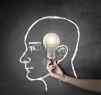 olly, An excellent idea (ideen, mann, hand, konzept, work, business, schule, studenten, glühbirne, licht, schultafel, schultafel, hintergrund, erfolg, karriere, objekt, oberfläche, remis, gesicht, profile, hirn, intelligenz, hilfe, support, lernen, ausbildung, textur, schreibe)