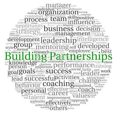 Rafal Olechowski, Building Partnerships concept in word tag cloud (backgrounds, gebäude, business, karriere, wechseln, wolken, kutsche, nachhilfe, meldung, konzept, delegation, entwerfen, entwicklung, führung, wirkungsvoll, mitarbeiter, geschäftsführer, fußballtor, gruppe, abbildung, aufprall, intelligenz, isolier)