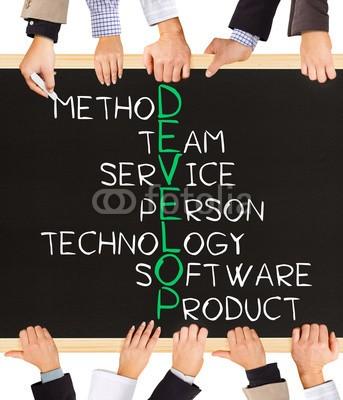 EtiAmmos, DEVELOP concept words (business, schultafel, entwickeln, erfolg, ideen, konzept, inspiration, motivation, kreativität, gespann, puzzle, spielwaren, text, work, erhalten, innovation, strategie, technologie, betriebe, software, person, entwicklung, teamwork, manage, hand, schwar)