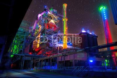 Tobias, Landschaftspark Duisburg (duisburg, hochofen, industrie, stahlwerk, beleuchtet, fraktal, blau, stern, farbe, erholung, denkmal, rost, stahl, stadt, kultur, nacht, bunt, ruhrgebiet, nachtaufnahme, licht, technologie, festival, logik, effek)
