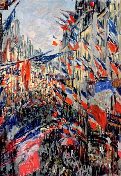 Claude Monet, The Rue Saint-Denis, Celebration of June 30, 1878 (oil on canvas)