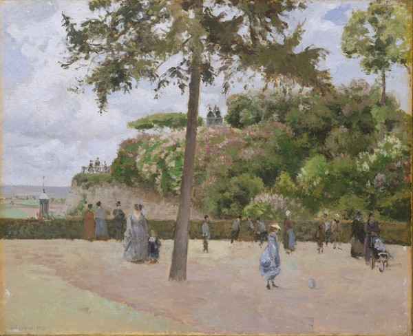 Camille Pissarro, The Public Garden at Pontoise, 1874 (oil on canvas)