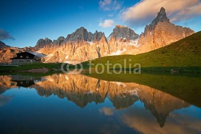 amastrotto, Dolomiti Pale di San Martino (dolomite, berg, landschaft, dreilappkrebs, dreilappkrebs, sennet, anblick, urlaub, bergspitzen spiegeln sich im fluss, besinnung, tourism, entspannen, natur, trek across, spaziergang, sport, peace, ruhig, gelassenheit, ausflug, hiking, campground, freigh)