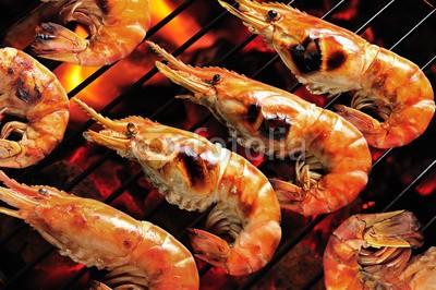 amenic181, Grilled prawns on flaming grill. (meer, barbecue, scharf essen, mahlzeit, feuer, essen, fleisch, rösten geröstet, lecker, steak, yummy, grill, garnele, ozean, geraucht, flamme, shrimps, geröstet, flammendes, cooking, feinschmecker, meeresfrüchte, barbecue, holzkohlen, appetize)