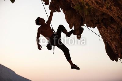 Andrey Bandurenko, Rock climber (bergsteiger, kletternatter, mann, fels, klettern, silhouette, männlich, aktiv, betätigung, erwachsen, felsen, extrem, tau, höhe, hoch, landschaft, lebensstil, berg, natur, eins, draußen, leute, person, portrait, seil, himmel, sport, stärke, star)
