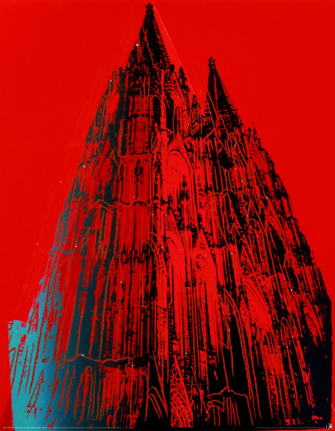 wandbild andy warhol cologne cathedral red. Black Bedroom Furniture Sets. Home Design Ideas