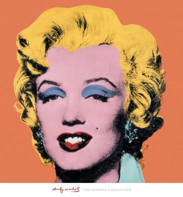Andy Warhol, Shot - Orange Marilyn (Marilyn Monroe, Pop Art, Modern, Schauspielerin,  Sängerin, Schauspielerin, Klassische Moderne, Amerikanische Kunst, People & Eros, Flur, Wohnzimmer, Büro, Persönlichkeiten, orange)
