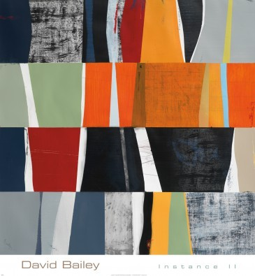 David Bailey, Instance II (Zeitgenössisch, Modern, Plakatkunst, Abstrakte Malerei, geometrische Figuren, Farbfelder, Rechtecke, Büro, Business, Wohnzimmer, bunt)