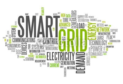 Ben Chams, Word Cloud Smart Grid (Wunschgröße, Fotokunst, Grafik, Worte, Wolke, Intelligenz, Gitter, Raster, Motivation, Modernität, Büro, Business, grün, blau)