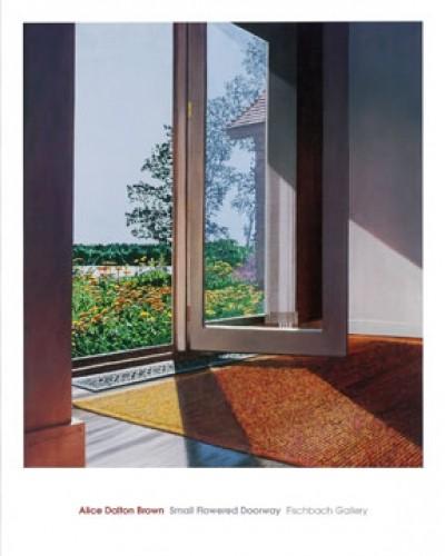 Alice Dalton Brown, Small Flowered Doorway (Malerei, Fotorealismus, Garten, Blumen, Fenster, Blick nach draußen, Urlaub, Licht, Sommer, Schatten, Schlafzimmer, Wohnzimmer, Badezimmer, bunt)