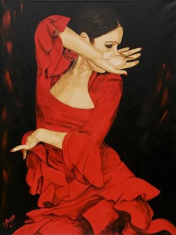 Carolina Alonso, Der Schwung (Wunschgröße, tanzen, Tango, Tanzstudio, Wohnzimmer,Fotografie)