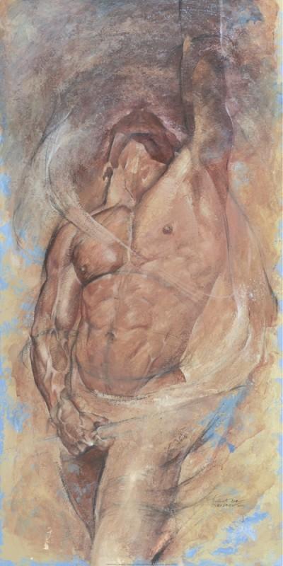 Chekirov Talantbek, Eternal Glory (Figurativ,Aktbilder / Erotik,Büste,Mann,Schlafzimmer,Wohnzimmer,Flur,bunt)