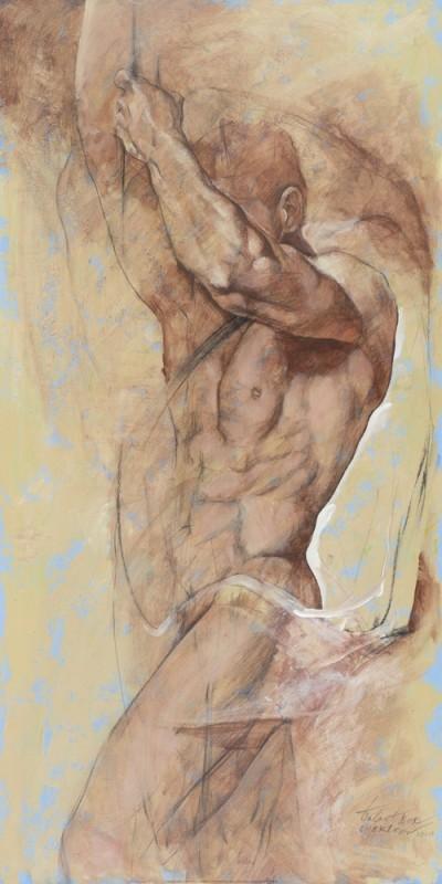 Chekirov Talantbek, Soul Of A Hero (Figurativ,Aktbilder / Erotik,Büste,Mann,Schlafzimmer,Wohnzimmer,Flur,bunt)