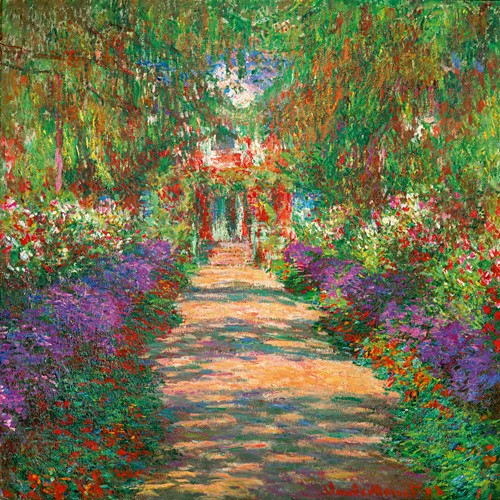wandbild claude monet garten in giverny art galerie. Black Bedroom Furniture Sets. Home Design Ideas