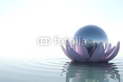 dampoint, Zen flower with sphere (Wunschgröße, Fotografie, Photografie, Wasser, Blüte, Lotus, Kugel, sich treiben lassen, Yoga, Licht,  Zen, Buddhismus, Entspannung, Meditation, Ruhe, Stille, Wellness, Badezimmer, Schlafzimmer, bunt)