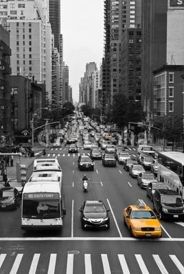 derschnelle, New York Traffic (new york city, usa, amerika, big apple, stadt, taxi, gigantisch, astronomisches, ny, architektur, reisen, urbano, hauptstadt, autos, autos, transport, verkehr, verkehr, karosserie, malen, american, downtown, fremdenverkehr, urlaub, skyline, autos, highwa)