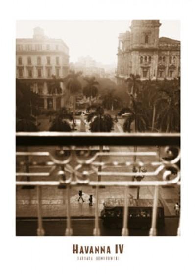 Barbara Dombrowski, Havanna IV (Metropole, Karibik, Hauptstadt, Architektur, Kuba, Nostalgie, Photokunst, Fotokunst, Wohnzimmer, Treppenhaus, sepia)