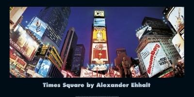 Alexander Ehhalt, Night On Broadway (Fotografie, Städte, Metropole, New York, Time Square, Perspektive, Amerika, Büro, Wohnzimmer, bunt)