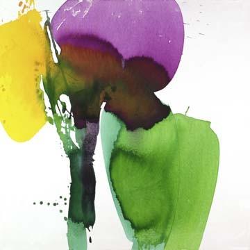 Alu-Dibond-Bild, El Ruttkau, Amusing (Abstrakt, Abstrakte Malerei, zeitgenössiche, energetisch, explosiv, floral modern, Büro, Business, Wohnzimmer, leuchtend, bunt)