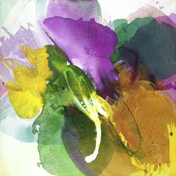 Digitaldruck Papier El Ruttkau, Enchanting (Abstrakt, Abstrakte Malerei, zeitgenössiche, energetisch, explosiv, floral modern, Büro, Business, Wohnzimmer, leuchtend, bunt)