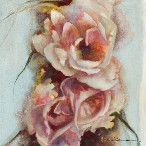 Elvira Amrhein, Exubrance de printemps II (Wunschgröße, Malerei, Modern,  Blumen, Blüten Rosen, Garten, Wintergarten, Schlafzimmer, bunt)