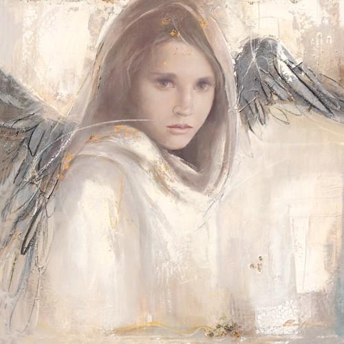 Elvira Amrhein, L´ange rebelle (Malerei, Modern, Fantastische Kunst, Mädchen, Portrait, Flügel, Engel, Pubertät, Jugend, Rebell, Jugendzimmer, bunt)