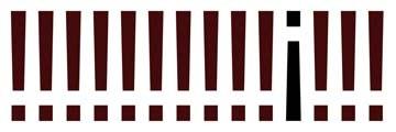 Gerhard Rossmeissl, The Sign Panorama II (Abstrakte Kunst, Ausrufezeichen, Reihe, aus der Reihe tanzen, Zeichen, Wunschgröße, modern, Büro, Business, Wohnzimmer, zeitgenössisch, bunt)