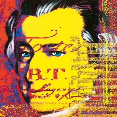 Günter Edlinger, Mozart 2 (Pop/Op Art, Wunschgröße, Mozart,Persönlichkeiten,Büro,Wohnzimmer,bunt)