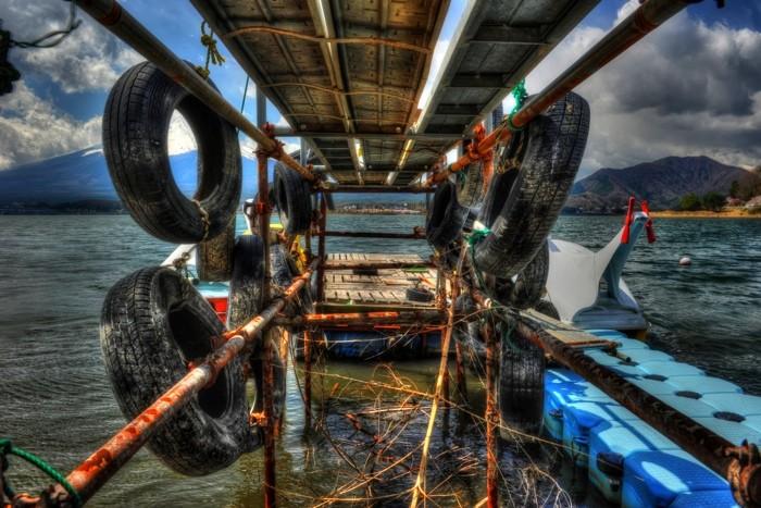 Hady Khandani, HDR - PIER CONSTRUCTION AT LAKE KAWAGUCHI - JAPAN 2 (HADYPHOTO, Fotografie)