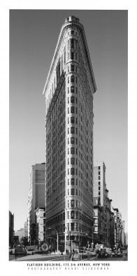 Henri Silberman, Flatiron Building (Fotographie, Photokunst, Fotokunst, Städte&Gebäude, Architektur, Straße, Büro, Business)
