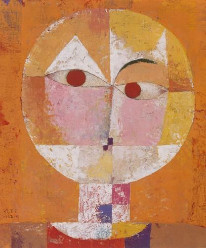 Paul Klee, Senecio 1922 (Wunschgröße, Malerei, Konstruktivismus, Gesicht, Kopf, geometrische Formen, Farbflächen, Klassische Moderne,  Wohnzimmer, Arztpraxis, Büro, Business, bunt)
