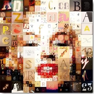 Belaer, Glamor (Marilyn Monroe, Pixel, verpixelt, Buchstaben, Fotokunst, Grafik, modern, Jugendzimmer, Wohnzimmer, Treppenhaus, Wunschgröße, bunt)