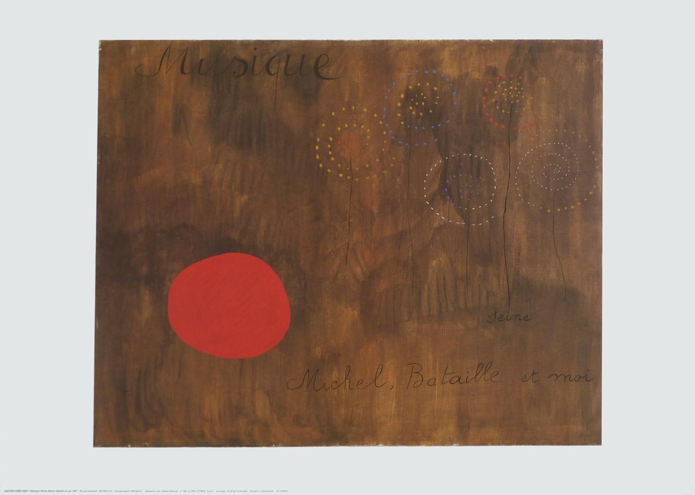Joan Miró, Musique, Seine, Michel, Bataille et moi (Klassische Moderne)