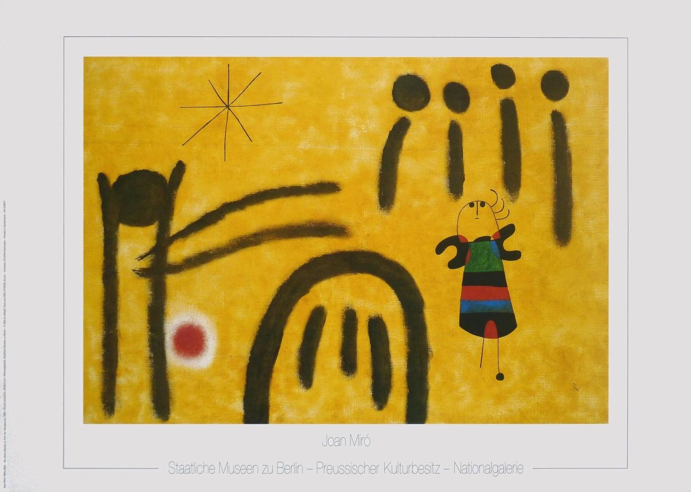 Joan Miró, Die kleine Blonde im Park der Attraktionen (Klassische Moderne)
