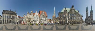 Kramer Henning, Bremen Rathausmarkt (Stadt, Gebäude, Architektur, historisch, Bremen, Rathaus, Fotokunst, Wohnzimmer, Treppenhaus, bunt)
