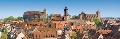 Kramer Henning, Nürnberg Kaiserberg (Architektur, Gebäude, historisch, Stadt, Bayern, Nürnberg, Burg,  Fotokunst, Wohnzimmer, Treppenhaus, bunt)