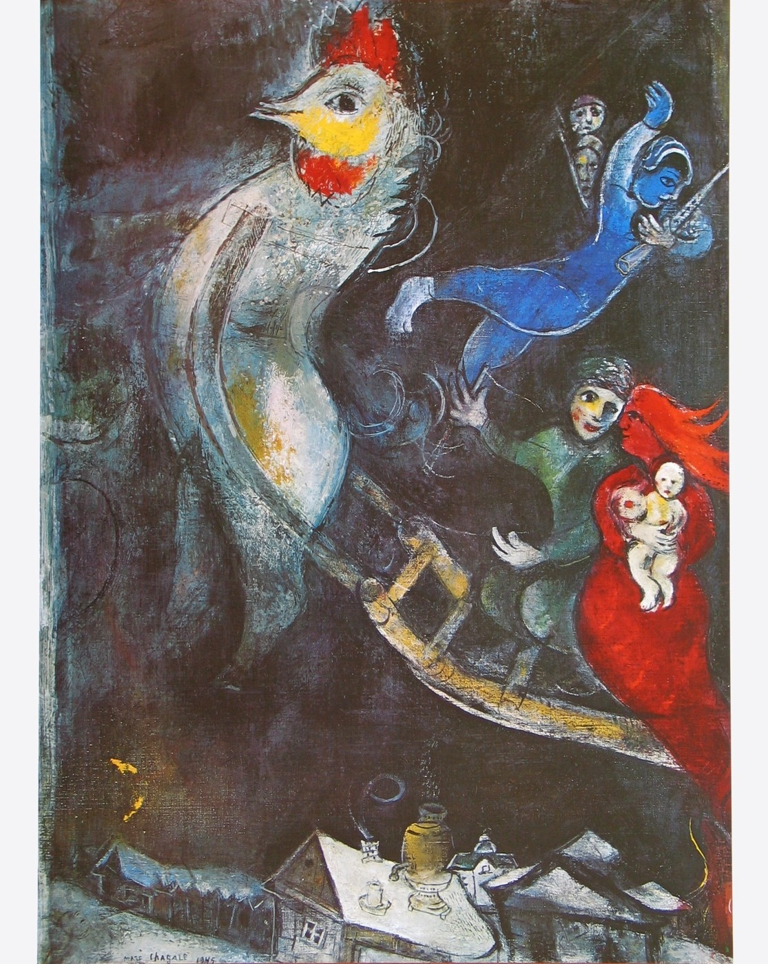 wandbild marc chagall das fliegende pferd 1948 1948. Black Bedroom Furniture Sets. Home Design Ideas