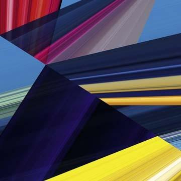 Ortwin Klipp, Lichtlinien 399 (Wunschgröße, Fotokunst, Lichtlinien, Linien, Streifen,Dreiecke, geometrische Formen, Büro, Business, Wohnzimmer, bunt)
